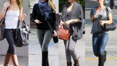 Как носить джинсы с сапогами