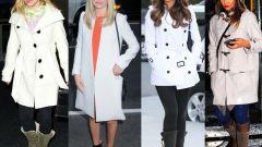 С чем носить белое пальто