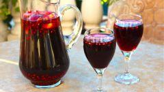 Гранатовый коктейль на основе шампанского