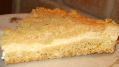Деревенский творожный пирог с песочной крошкой