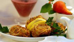 Как приготовить оригинальную закуску из блинчиков с мясом