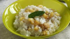 Рис с бананами на завтрак