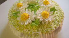 Торт «Золотые ромашки»