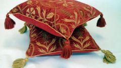 Как сделать кисти на подушку