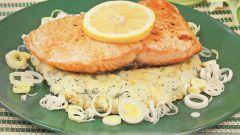 Готовим филе лосося в фольге