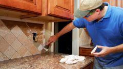 Как самому сделать фартук из плитки
