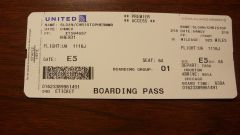 Looks like a boarding pass