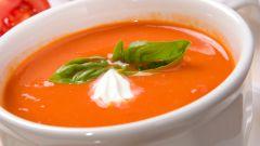 Как приготовить томатный полуовощной суп