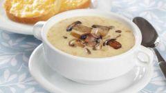 Как приготовить суп с шампиньонами и сыром