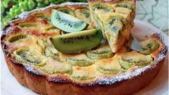 Как приготовить пирог с киви и имбирем