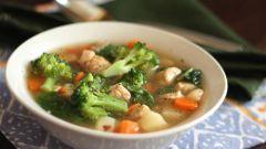Ароматный суп с куриными крылышками