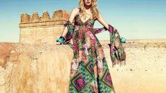 С чем носить длинный сарафан