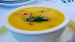 Овощной суп-пюре с ветчиной