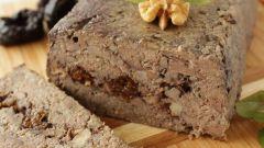 Мясной террин с черносливом и грецким орехом