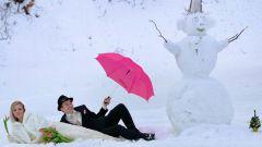 Идеи для фотосессии зимней свадьбы