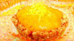 Миндальное пирожное с хурмой