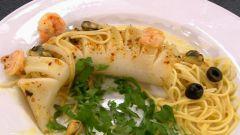 Блюда из кальмара: кальмар фаршированный