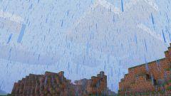 Как включить дождь в Minecraft