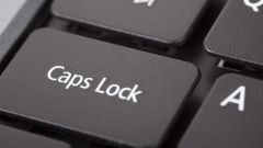 How to enable the caps lock key