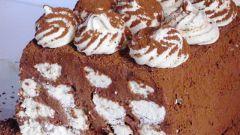 Шоколадный торт-мороженое с меренгами