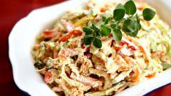 Готовим куриный салат с овощами