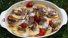 Шоколадно-ванильный хлебный пудинг