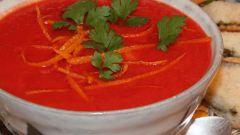 Овощной крем-суп с апельсиновым соком