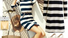 Dress with stripes: who and what to wear