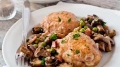 Как запечь курицу с шампиньонами