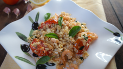 Как приготовить цветную капусту с чесночными креветками