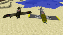 In Minecraft how to make a plane