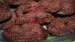 Как приготовить шоколадное печенье с вишней
