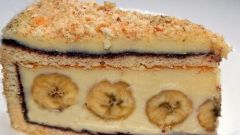 Детский творожно-банановый торт