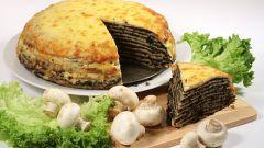 Блинный овощной пирог