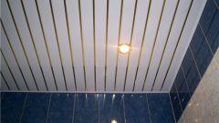 Как установить потолок в ванной