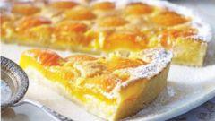 Абрикосовый торт с сахарной решеткой