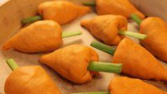 """Как приготовить манты-""""морковки"""""""