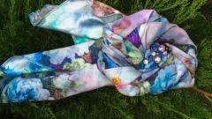 Как сделать стильное украшение из платка