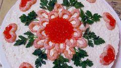 Морской деликатес с фасолью и морской капустой