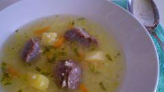 Суп с желудками