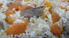 Рис с мясом и абрикосами