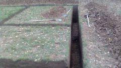 Как правильно выкопать траншею