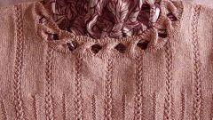 Как вывязать горловину свитера