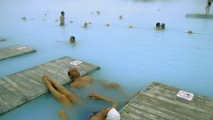 What medicinal power of hot springs