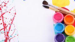 Как покрасить бумагу