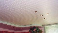 Реечный потолок для кухни