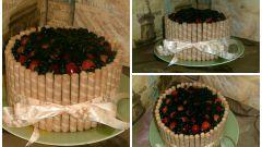 Летний торт с рикоттой и фруктами