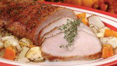Свиная вырезка в горчичном маринаде
