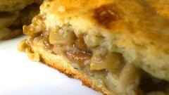 Пирог с сушеными грибами