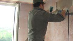 Как штробить под стену
